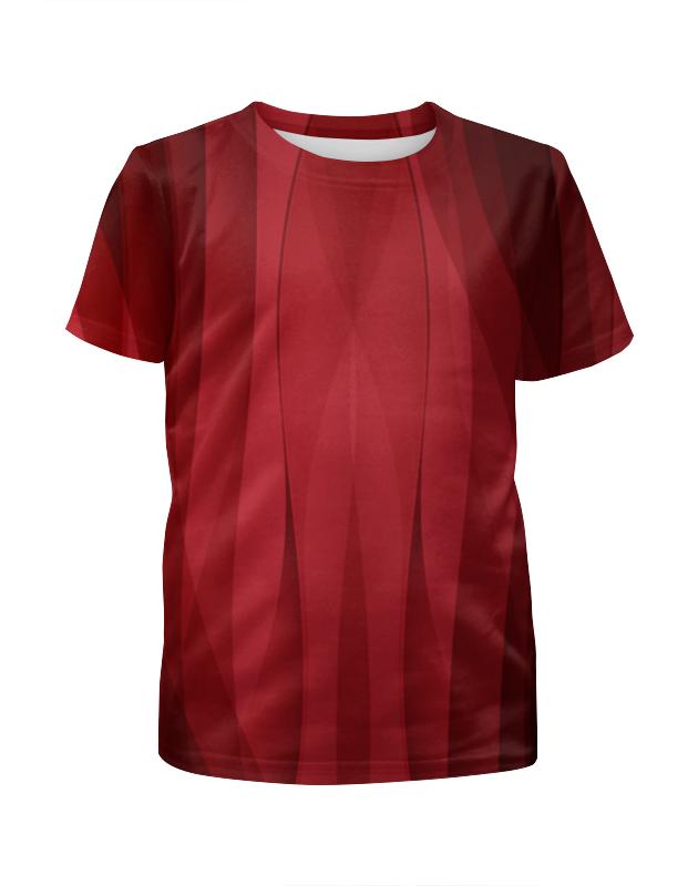 Футболка с полной запечаткой для девочек Printio Красная абстракция футболка с полной запечаткой мужская printio красная абстракция с ножницами