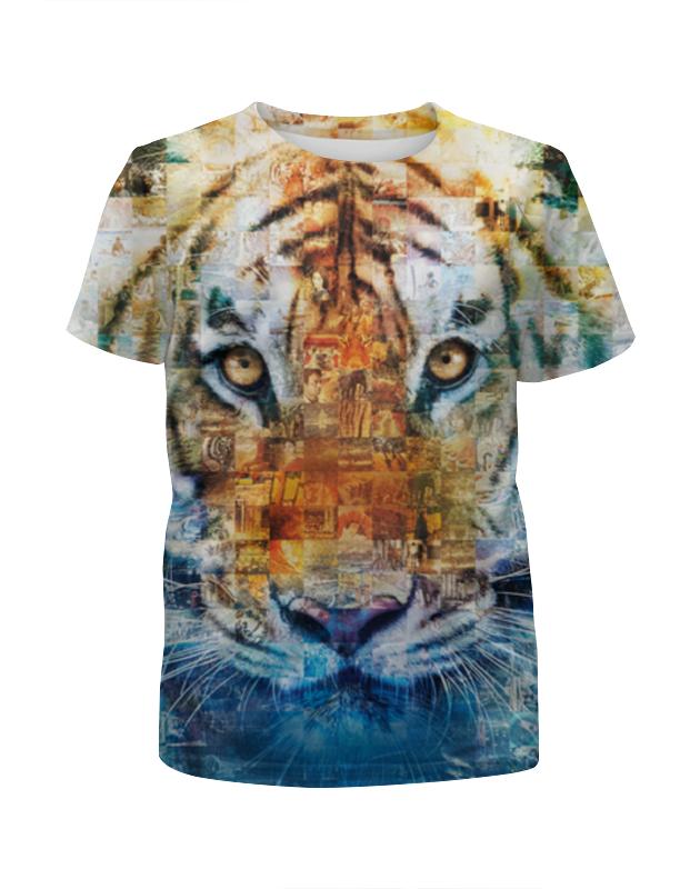 Футболка с полной запечаткой для девочек Printio Тигр - жизнь пи футболка с полной запечаткой для девочек printio одноглазый тигр