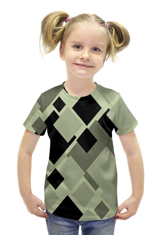 Футболка с полной запечаткой для девочек Printio Ромбы футболка с полной запечаткой для девочек printio spawn