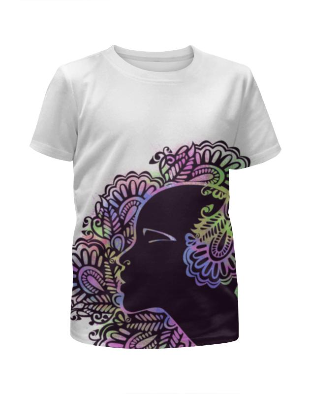 Футболка с полной запечаткой для девочек Printio Цветок пустыни футболка с полной запечаткой для девочек printio жидкие краски