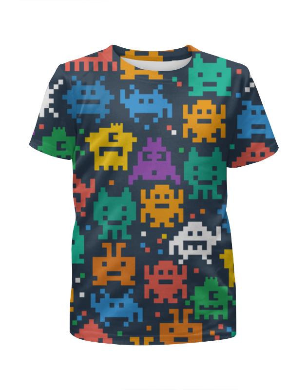 Футболка с полной запечаткой для девочек Printio Монстры пиксели футболка с полной запечаткой для девочек printio пртигр arsb