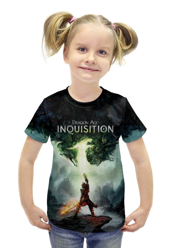 Футболка с полной запечаткой для девочек Printio Dragon age inquisition