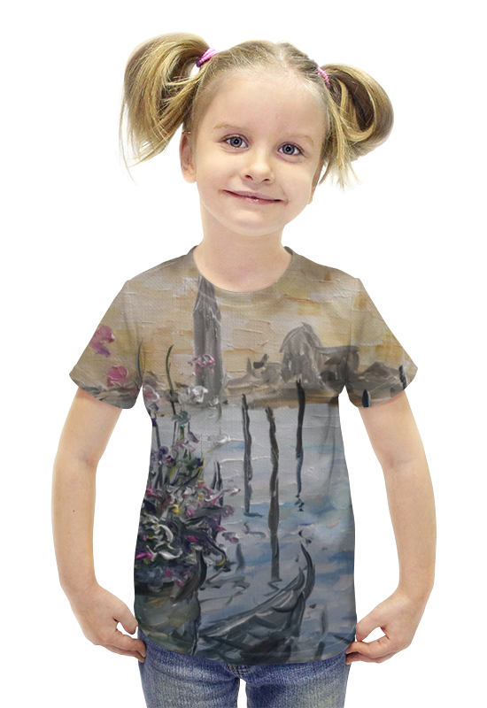 Футболка с полной запечаткой для девочек Printio Окно в венецию футболка с полной запечаткой для девочек printio картина