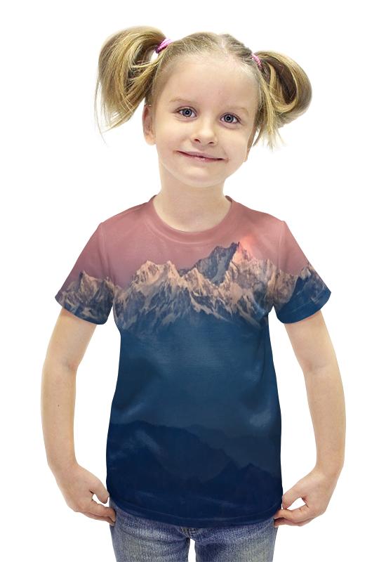 Футболка с полной запечаткой для девочек Printio Гималаи футболка с полной запечаткой для девочек printio пртигр arsb
