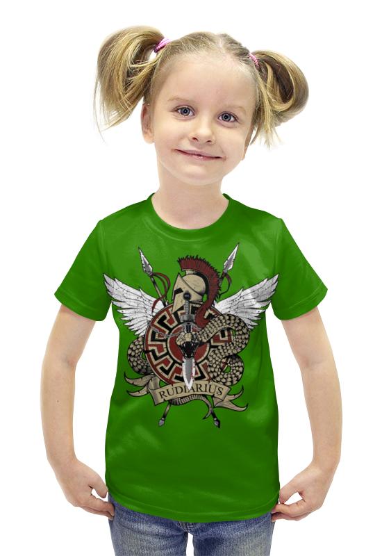 Футболка с полной запечаткой для девочек Printio Rudiarius футболка с полной запечаткой для девочек printio пртигр arsb