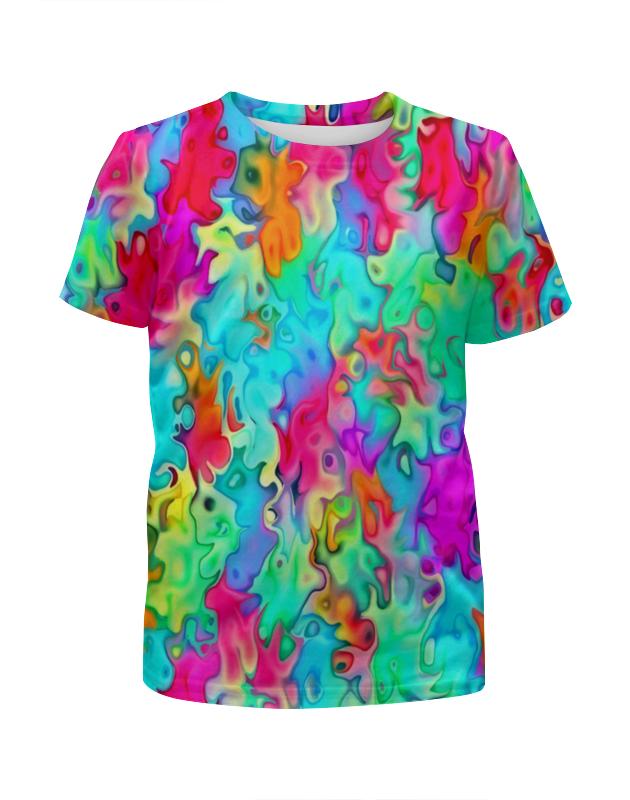Футболка с полной запечаткой для девочек Printio Краски на воде футболка с полной запечаткой для девочек printio жидкие краски