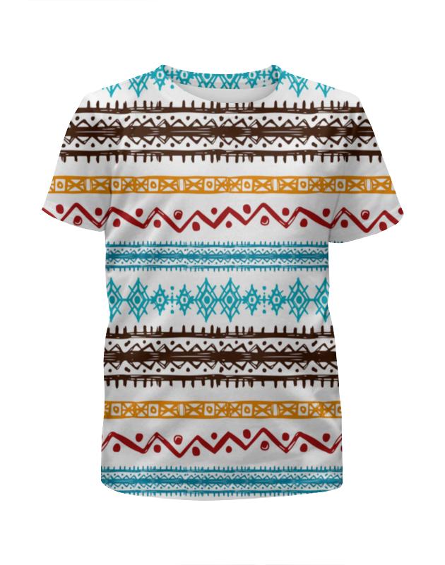 Футболка с полной запечаткой для девочек Printio Этнический футболка с полной запечаткой для девочек printio этнический узор