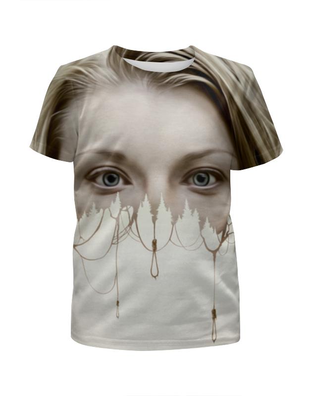 Футболка с полной запечаткой для девочек Printio Лес призраков футболка с полной запечаткой для девочек printio заколдованное яблоко