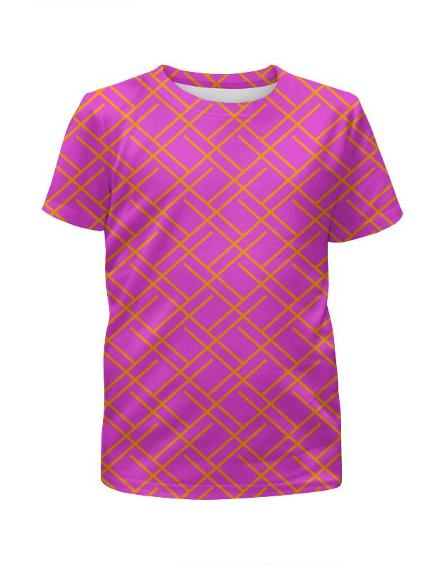Футболка с полной запечаткой для девочек Printio Узор полос футболка с полной запечаткой для девочек printio волнистый узор