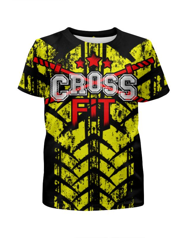Футболка с полной запечаткой для девочек Printio Crossfit футболка кто не хочет говорить с лавровым