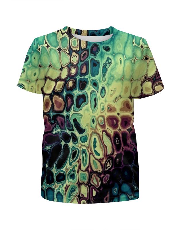 Футболка с полной запечаткой для девочек Printio Мозаика футболка с полной запечаткой для мальчиков printio мозаика