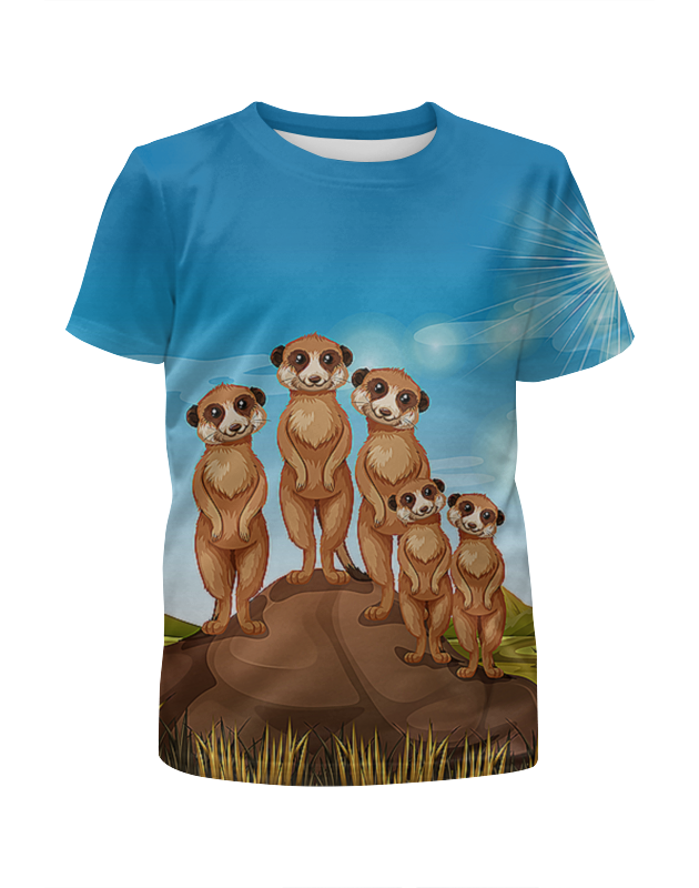 Футболка с полной запечаткой для девочек Printio Сурикаты футболка с полной запечаткой для мальчиков printio сурикаты
