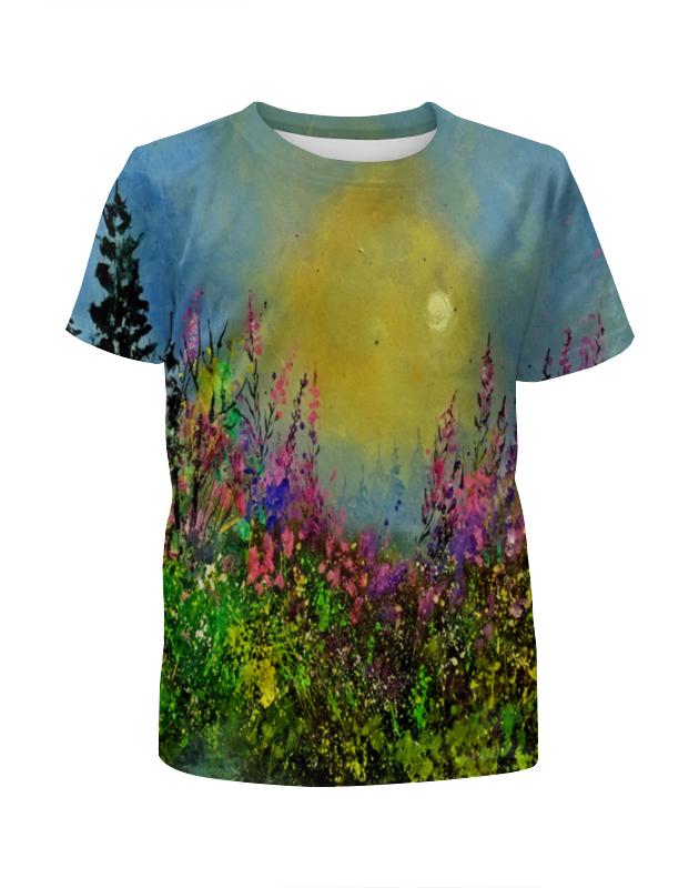 Футболка с полной запечаткой для девочек Printio Весенний пейзаж футболка с полной запечаткой для девочек printio пейзаж красками