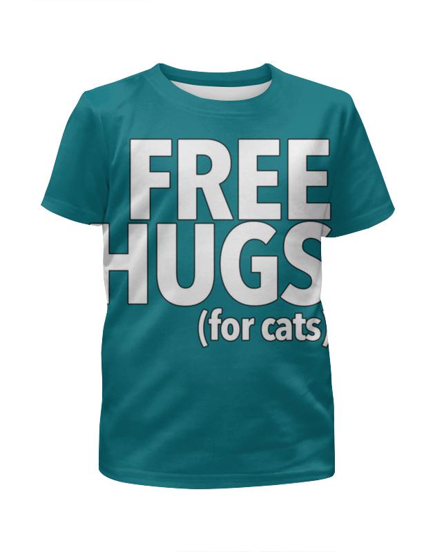 Футболка с полной запечаткой для девочек Printio Free hugs