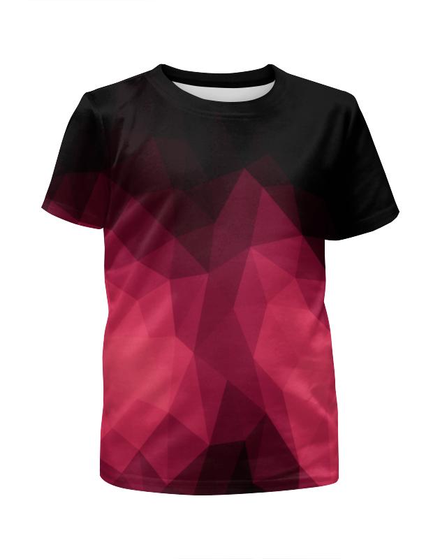Футболка с полной запечаткой для девочек Printio Объемный узор футболка с полной запечаткой для девочек printio spawn