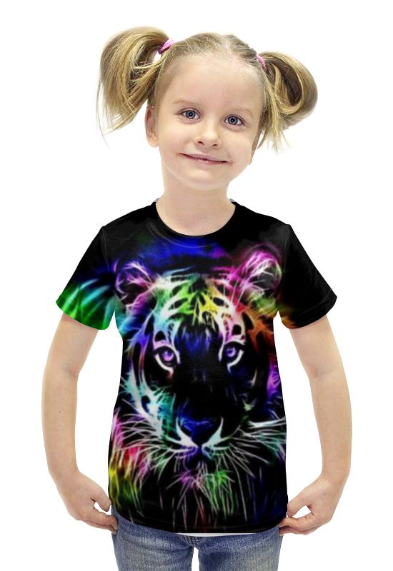 Футболка с полной запечаткой для девочек Printio Тигра футболка с полной запечаткой для девочек printio spawn