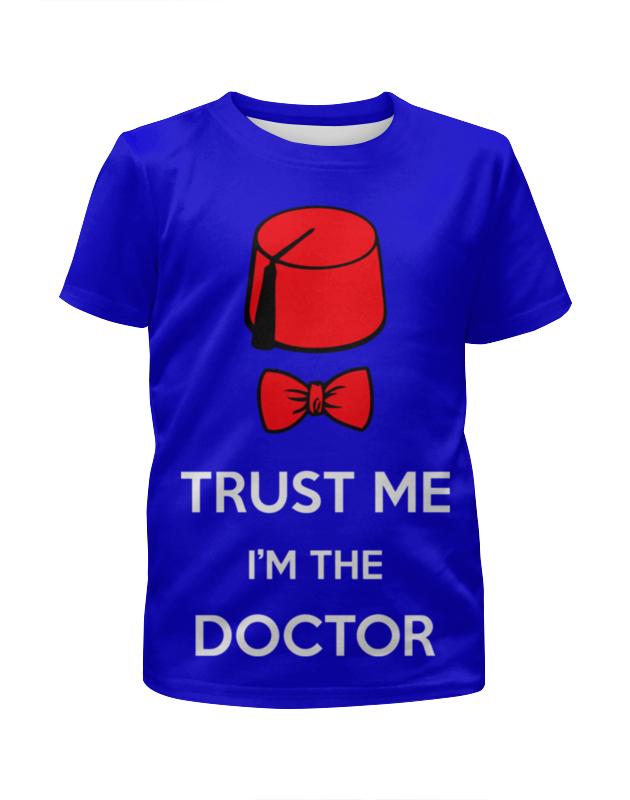 Футболка с полной запечаткой для девочек Printio Доктор кто (doctor who) футболка рингер printio доктор кто doctor who