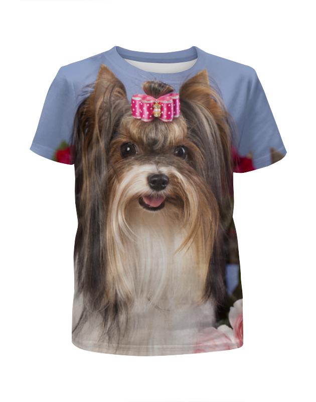 Футболка с полной запечаткой для девочек Printio Собака футболка с рисунком собака 3 14 лет