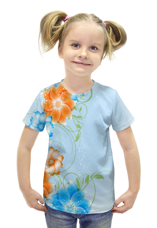 Футболка с полной запечаткой для девочек Printio Цветок футболка с полной запечаткой для девочек printio пртигр arsb