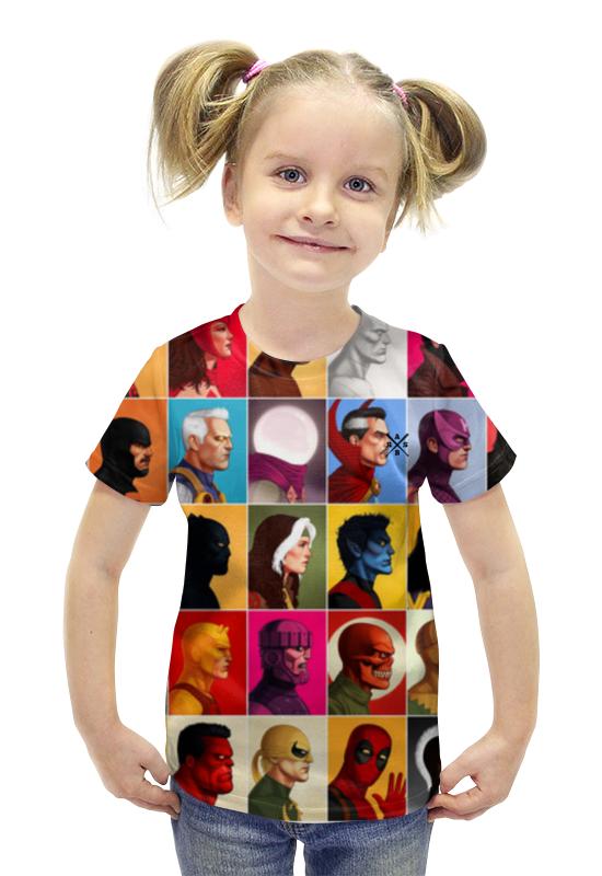 Футболка с полной запечаткой для девочек Printio Heros marvel arsb футболка с полной запечаткой printio bats spawn arsb