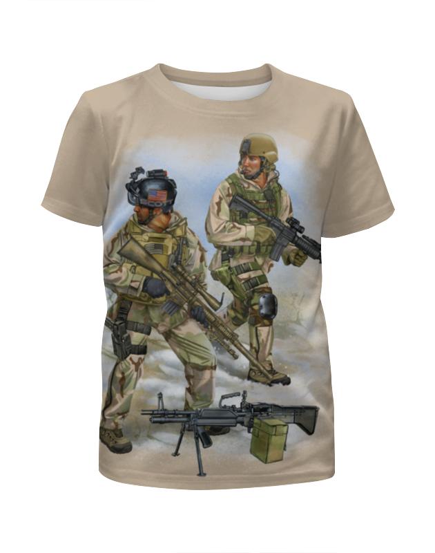 Футболка с полной запечаткой для девочек Printio Us army army of me футболка