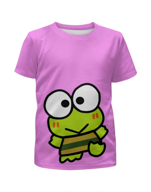 Футболка с полной запечаткой для девочек Printio Frogs футболки и топы веселый малыш футболка лягушонок