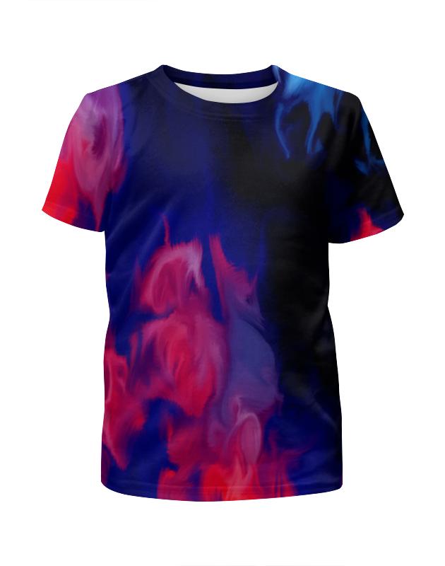 Футболка с полной запечаткой для девочек Printio Узор красками футболка с полной запечаткой для девочек printio пртигр arsb