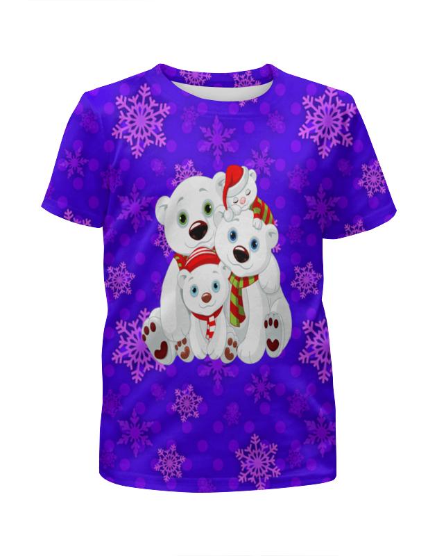 Футболка с полной запечаткой для девочек Printio Белые медведи футболка с полной запечаткой для девочек printio пртигр arsb