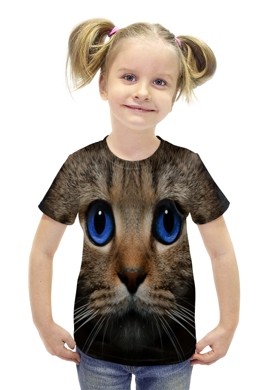Футболка с полной запечаткой для девочек Printio Котенок футболка с полной запечаткой для девочек printio пртигр arsb