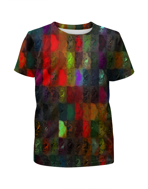 Футболка с полной запечаткой для девочек Printio Кубики красками футболка с полной запечаткой для девочек printio пртигр arsb