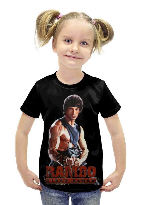 Футболка с полной запечаткой для девочек Printio Rambo футболка с полной запечаткой для девочек printio spawn