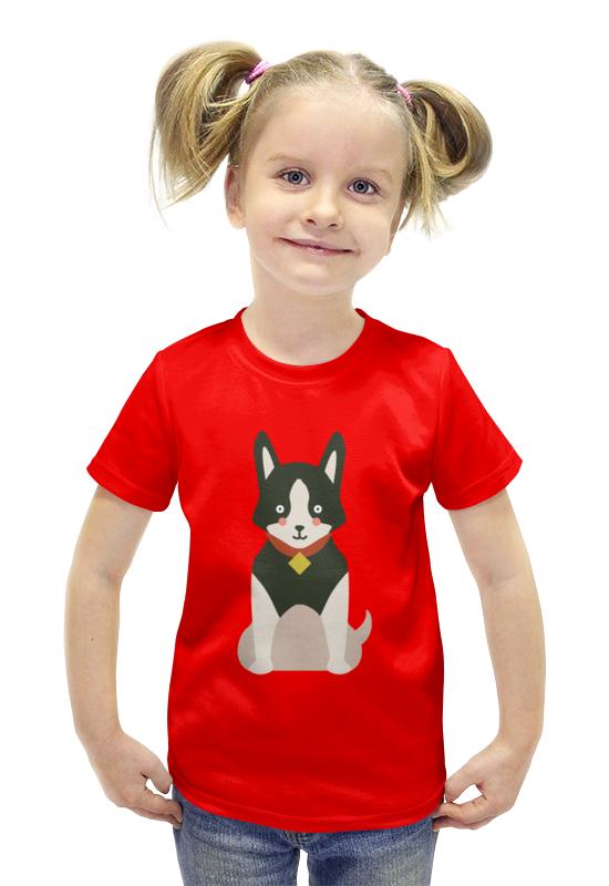Футболка с полной запечаткой для девочек Printio Собачка футболка с полной запечаткой для девочек printio пртигр arsb