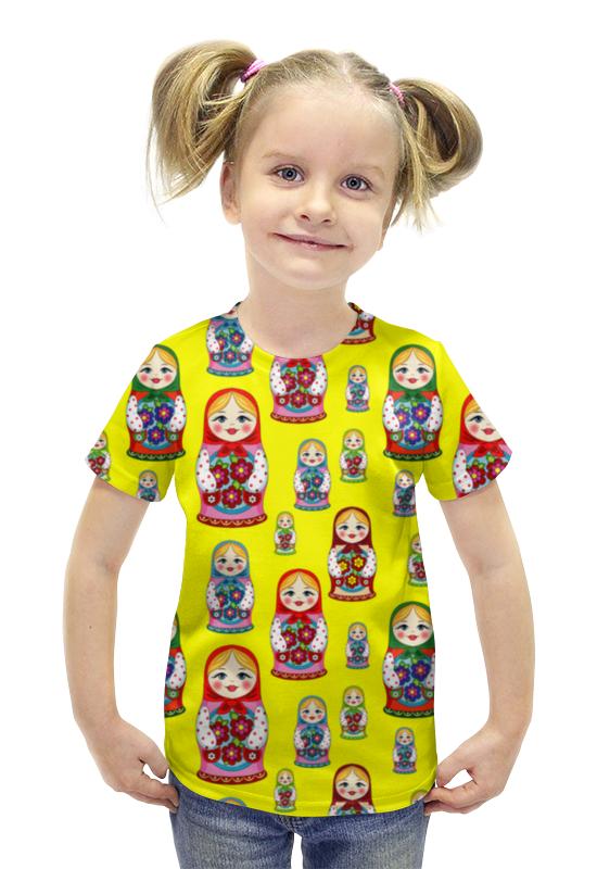 Футболка с полной запечаткой для девочек Printio Матрёшки футболка с полной запечаткой для девочек printio пртигр arsb