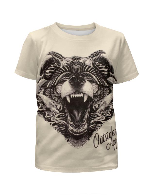 Футболка с полной запечаткой для девочек Printio Animal art футболка с полной запечаткой для девочек printio spawn