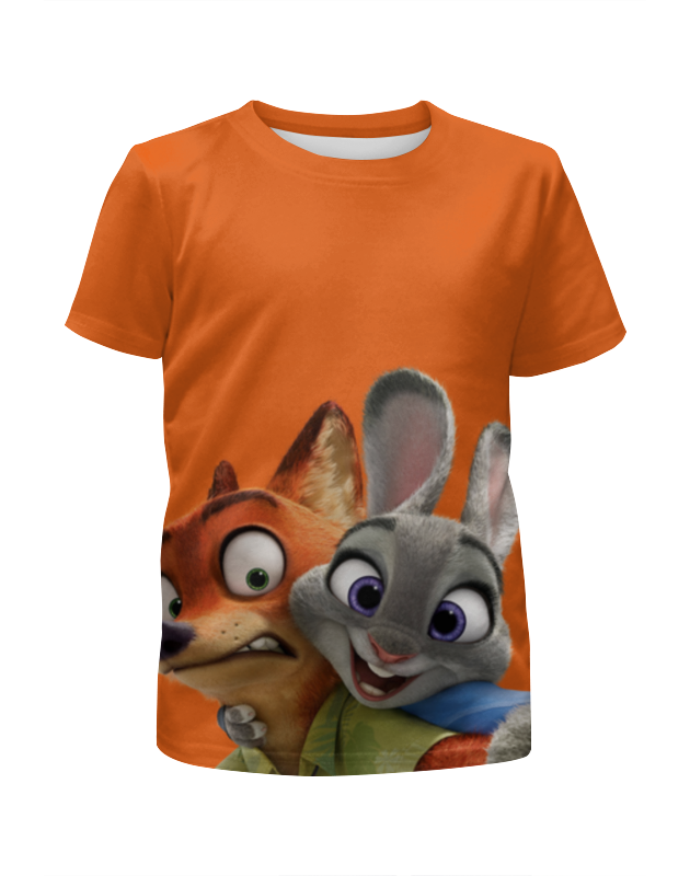 Футболка с полной запечаткой для девочек Printio Зверополис футболка классическая printio футболка джуди хопс