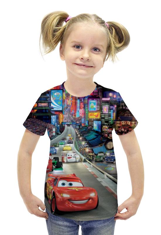 Футболка с полной запечаткой для девочек Printio Тачки футболка с полной запечаткой для девочек printio пртигр arsb
