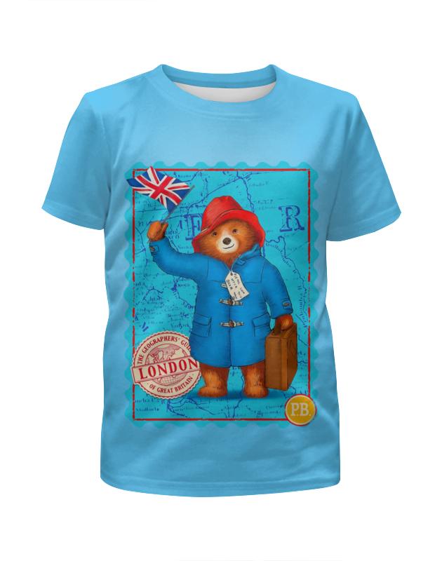 Футболка с полной запечаткой для девочек Printio Paddington футболка с полной запечаткой для девочек printio на отдых