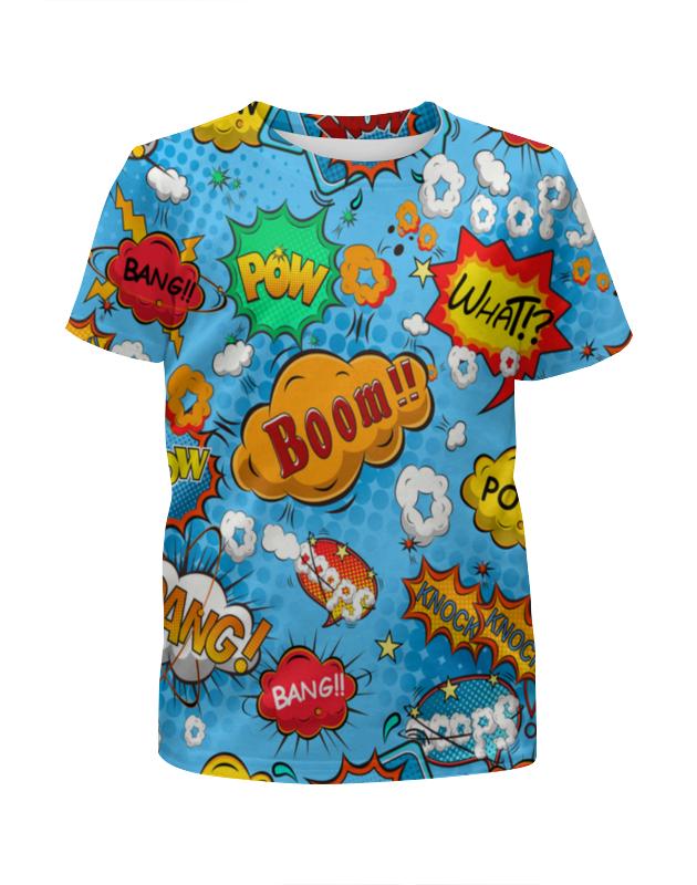Футболка с полной запечаткой для девочек Printio Pop art футболка с полной запечаткой для девочек printio glitch art чёрная дыра