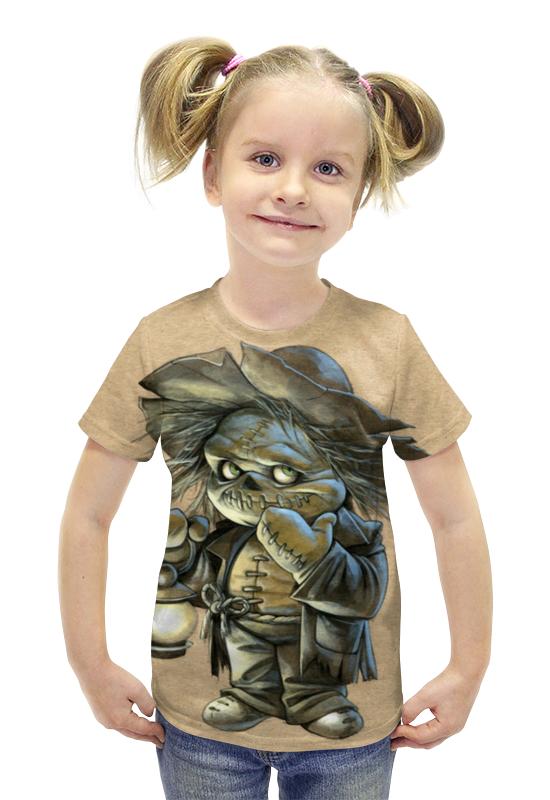 Футболка с полной запечаткой для девочек Printio Монстрик футболка с полной запечаткой для девочек printio пртигр arsb