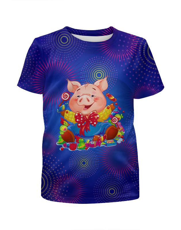 Футболка с полной запечаткой для девочек Printio Хрюша футболка с полной запечаткой для девочек printio на отдых