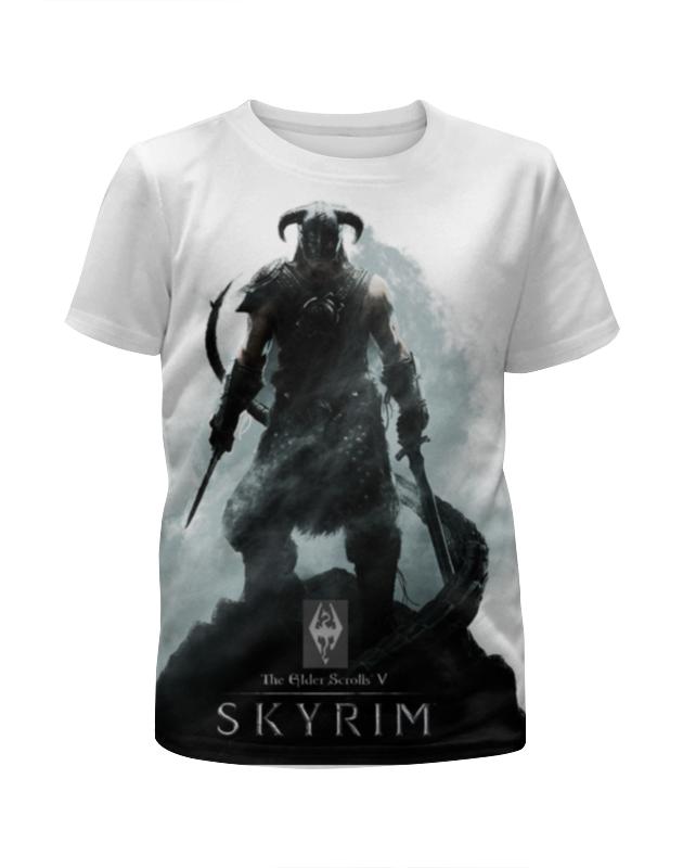 Футболка с полной запечаткой для девочек Printio Skyrim футболка print bar skyrim