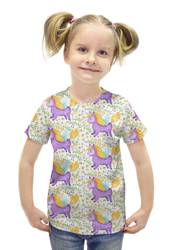 Футболка с полной запечаткой для девочек Printio Единорог футболка с полной запечаткой для девочек printio пртигр arsb