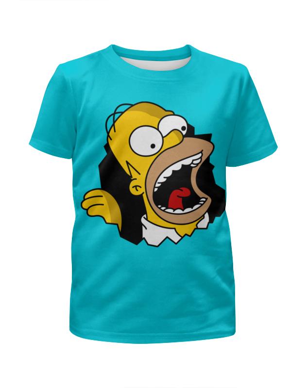 Футболка с полной запечаткой для девочек Printio Гомер симпсон футболка с полной запечаткой для девочек printio пртигр arsb