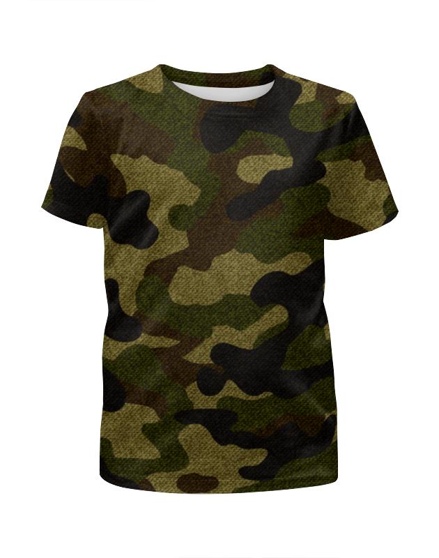 Футболка с полной запечаткой для девочек Printio Камуфляж футболка с полной запечаткой для девочек printio волгоградская область