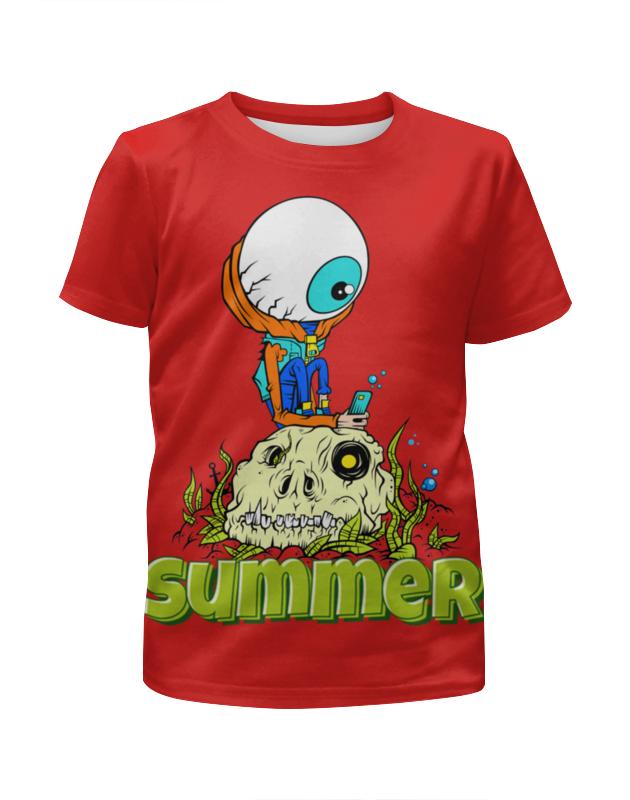 все цены на Футболка с полной запечаткой для девочек Printio Summer онлайн
