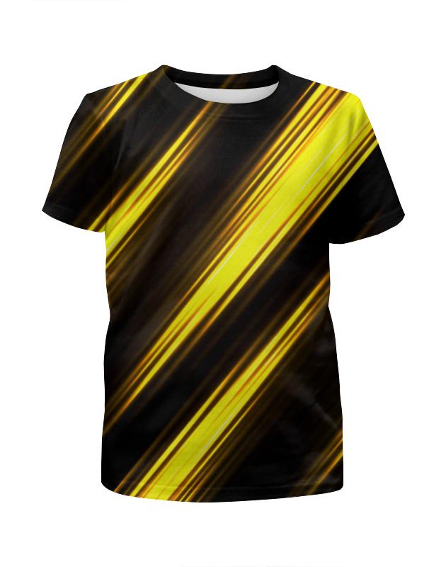 Футболка с полной запечаткой для девочек Printio Желтые полосы футболка с полной запечаткой для девочек printio rushero arsb