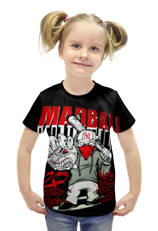 Футболка с полной запечаткой для девочек Printio Madball футболка с полной запечаткой для девочек printio пртигр arsb