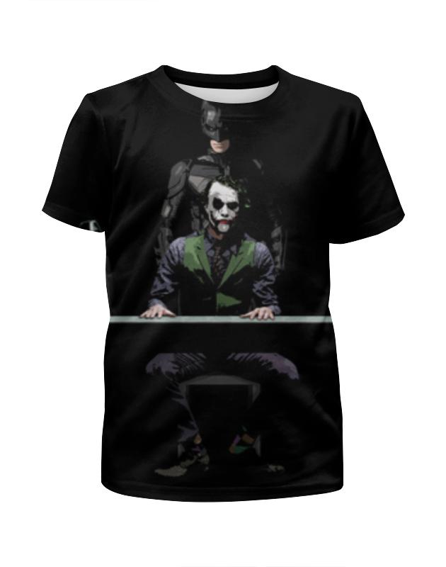 Футболка с полной запечаткой для девочек Printio Бэтмен и джокер футболка с полной запечаткой для девочек printio бэтмен batman