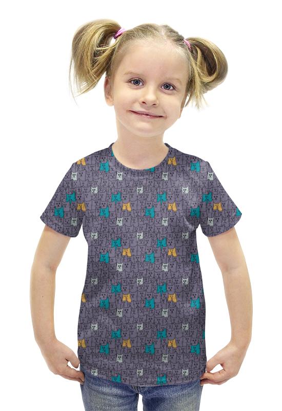 Футболка с полной запечаткой для девочек Printio Котики футболка с полной запечаткой для девочек printio пртигр arsb