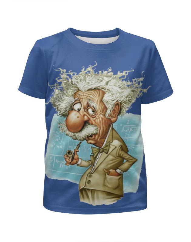 Футболка с полной запечаткой для девочек Printio Альберт эйнштейн футболка с полной запечаткой для девочек printio пртигр arsb